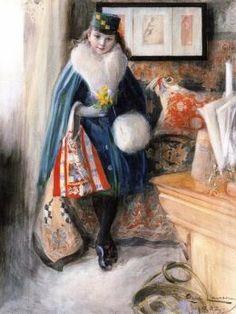 Carl Larsson (Swedish Realist Painter, 1853-1919)  Anna-Maria
