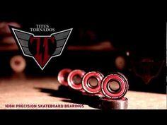 Titus Tornados - High Precision Skateboard Bearings - http://DAILYSKATETUBE.COM/titus-tornados-high-precision-skateboard-bearings/