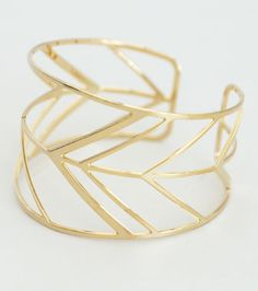 Chevron Cuff Kris Nations Jewels - made in the USA from recycled metals.