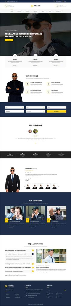 Bristol is a wonderful 3in1 responsive #HTML5 bootstrap template for #webdev #security companies, private investigators, bodyguards, alarm and protection services agencies, guardians and security systems offices websites download now➩  https://themeforest.net/item/bristol-security-services-html-template/19299491?ref=Datasata