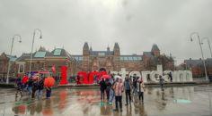 I amsterdam Rijksmuseum, rain I Amsterdam, Rain, Street View, Rain Fall, Waterfall