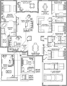 unique open floor plans one story. unique. home plan and house