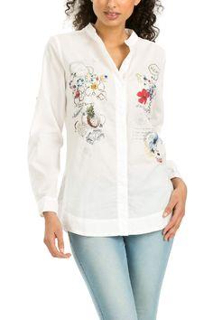 White cotton shirt | Desigual Plecol. MMMMM!