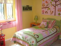OHHHHHH-- my little girl has this lamp, and this shade of yellow walls, but i'm still looking to do something different....
