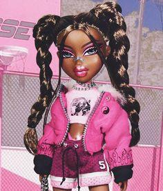 Black Girl Cartoon, Black Girl Art, Black Girls Rock, Black Girl Magic, Bratz Doll Makeup, Bratz Doll Outfits, Black Bratz Doll, Brat Doll, Bratz Girls