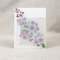 Forget-Me-Not Stamp Set: Papertrey Ink Clear Stamps Dies Paper Ink Kits Ribbon  #PTI #June2016