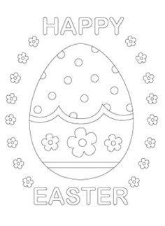 Free Easter colouring in pages
