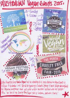 #Australian upcoming #Vegan #Events in October & November 2015