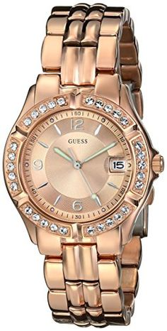 GUESS Womens U11069L1 Sporty Chic Rose GoldTone MidSize Watch -- Read more at the image link.
