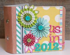 Here is the last of my projects for my guest spot with American Crafts: The foundation for this mini is an album from Maya Road that I got. Mini Albums, Mini Album Scrap, Mini Scrapbook Albums, Crafty Hobbies, Paper Crafts, Diy Crafts, American Crafts, Crafty Craft, Mini Books