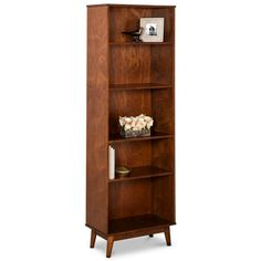 Mid Century Modern 5-Shelf Bookcase