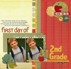 First Day of Second Grade - Scrapbook.com