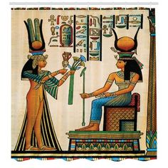 Ambesonne Egyptian Decor Tapestry, Old Egyptian Papyrus Depicting Queen Nefertari with Historical Empire Artwork, Wall Hanging for Bedroom Living Room Dorm, 80 W X 60 L inches, Multi Color Ancient Egypt Art, Ancient History, European History, Ancient Aliens, Ancient Artifacts, Ancient Greece, Art History, American History, Egyptian Queen
