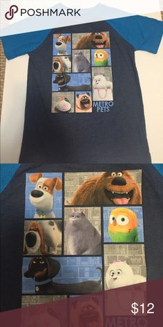 LIKE MEW Secret Life of Pets t-shirt Only worn once, washed and dried.  Super soft and great for your pets lover!    Smoke free home! Illumination Entertainment Shirts & Tops Tees - Short Sleeve