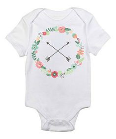 Look at this #zulilyfind! White Floral Arrows Bodysuit - Infant by Love you a Latte #zulilyfinds