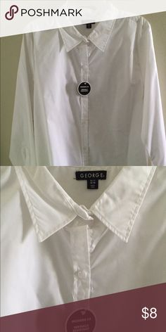 New George white XL polo long sleeves New George white XL polo long sleeves  Size: XL Color: white  Please feel free to ask question regarding this item.    WE SUGGEST YOU BUNDLE WITH OUR OTHER AVAILABLE ITEMS LISTED TO SAVE ON SHIPPING. George Tops Blouses