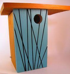 Matt Estrada - Wood For more information, visit www. Wood Bird Feeder, Bird Feeders, Modern Birdhouses, Birdhouse Designs, Bird Houses Diy, Wood Post, Bird Boxes, Nesting Boxes, Art Festival