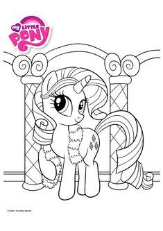 mewarnai kuda poni rarity - kumpulan gambar menarik