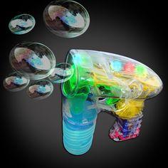 Flashing LED Bubble Gun - Flashingo