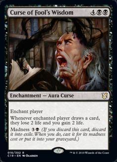Curse of Fool's Wisdom mtg Fantasy Rpg, Dark Fantasy, Mtg Vampire, Mtg Decks, Cool Deck, Magic The Gathering Cards, Fantasy Places, Magic Cards, Wizards Of The Coast