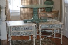 Annie Sloan painted tables