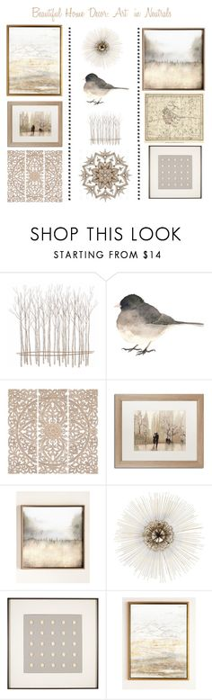 """""""Art in Neutrals"""" by christined1960 ❤ liked on Polyvore featuring interior, interiors, interior design, home, home decor, interior decorating, Fox, Home Decorators Collection, Trademark Fine Art and Haze"""