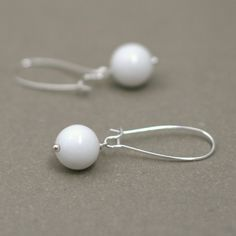 milk glass inspired earrings