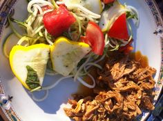 Zoodles and Patty Pan Squash Salad