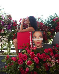 Rihanna covers her nude body with JUST her highly-anticipated photo book as she poses with flowers Rihanna Looks, Rihanna Riri, Rihanna Style, Rihanna Cover, Bad Gal, Celebs, Celebrities, Barbados, Business Women