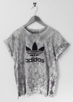 Shirt: adidas grey tie dye t- blouse graphic tee fashion addict teenagers tie…
