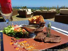 Lunch with a view at Rancho del Sol in orient bay #sxm #saintmartin #orientbay #epicureclubsxm #foodporn
