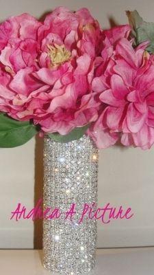Crystal Rhinestone Bouquet Cuff  $68-LOVE the rhinestone vase!!