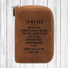 To My Son I Pray Always Be Safe Love Dad Customized Engraved Wallet