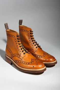 Originally Posted by WinterShorts Get these: Sharp Boots, Leather Boots, Grenson Boots, Men's Boots, Handmade Shoes. Mens Brogue Boots, Mens Shoes Boots, Mens Boots Fashion, Sock Shoes, Leather Boots, Men's Shoes, Fashion Shoes, Men's Brogues, Mens Smart Shoes