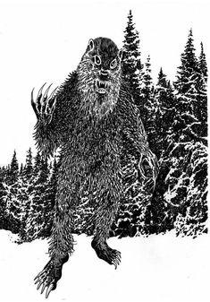 Mythological Creatures, Mythical Creatures, World Mythology, Cryptozoology, Weird Stories, Urban Legends, Bigfoot, Werewolf, Deities