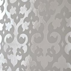 Suzie Wallpaper Gothic Flock Foil Wallpaper White 0 00 Brocade Home