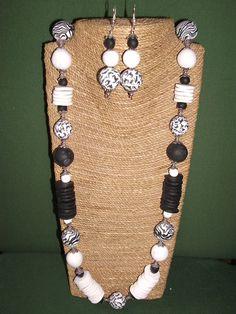 collar largo y pendientes  animal print de ARTESANIAALMA en Etsy Collar, Animal, Etsy, Jewelry, Fashion, Dupes, Polymer Clay, Beading, Earrings
