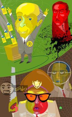 Series Ex presidentes de Venezuela: Junta de Gobierno. Desconocimiento por parte de Pérez Jiménez al ganador Jóvito Villalba. La muerte de Ruiz Pineda, comienzo de la dictadura. Pedro Estrada Director de la policía