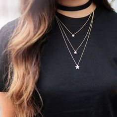 ketting-layered-ster-goud-pf