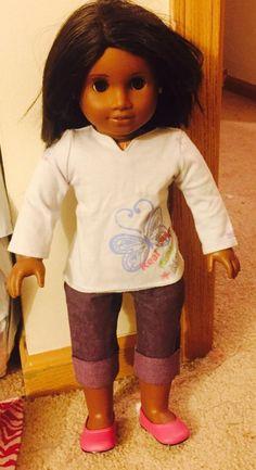 American Girl doll/Truly Me doll Dark skin, Medium brown hair: Brown eyes  | eBay