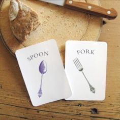 Kitchen Vocabulary Flash Cards