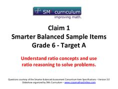 Smarter Balanced Sample Items: Grade Math – Target A Assessment for Grade Guided Practice, Instructional Strategies, Math Problems, Rubrics, Assessment, Real Life, Target, Presentation, Knowledge