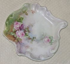 Antique Limoges Hand Painted Pin Dish