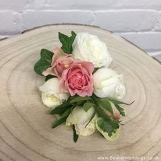 White and Pink Rose Wedding Pin Corsage for Mother of the Bride/Groom or Grandparent. Wedding Flowers Liverpool, Merseyside, Bridal Florist, Booker Flowers and Gifts, Booker Weddings Wedding Pins, Rose Wedding, Wedding Venues, Wedding Flowers, Wedding Corsages, White And Pink Roses, Vera Wang Wedding, Wrist Corsage, Grandparent