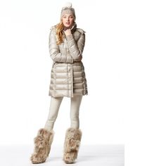 MONCLER - TINUVIEL NYLON SATIN DOWN JACKET - BEIGE | MONCLER MODE 1 | Pinterest | Moncler, Beige and Satin