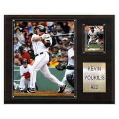 MLB 12 x 15 in. Kevin Youkilis Boston Red Sox Player Plaque - 1215YOUK