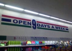 9 days, but are they open 27 hours?