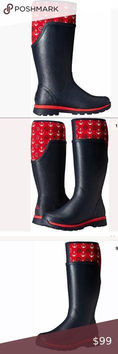New Statesman Garden Runner Waterproof Rubber Red Size Mens 5 Women 6 Shoes NIB