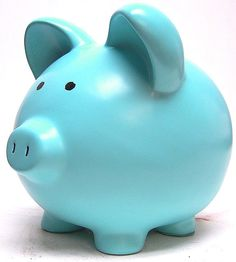 Color Azul Turquesa - Turquoise!!! Piggy Bank