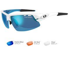 Tifosi Crit Interchangeable Skycloud Sunglasses - Clarion Blue/AC Red/Clear
